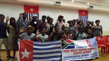 The official launching of the Free West Papua Campaign in Cape Town