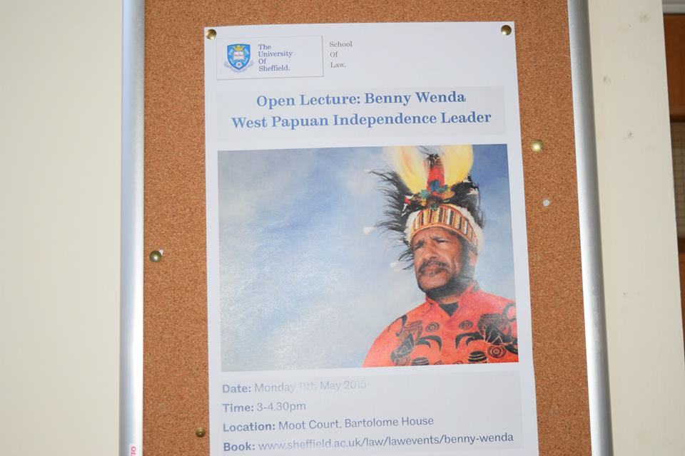 Benny Wenda gives at talk at the Sheffield University School of Law