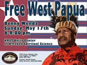 Benny Wenda will be at this event on May 17th in Los Angeles