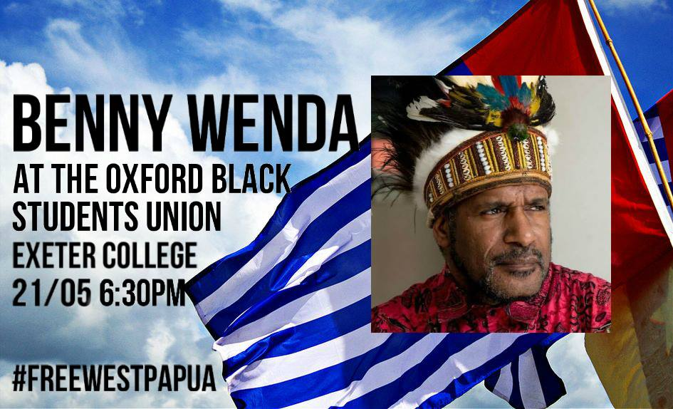 Benny Wenda gives a talk at the Oxford Black Students Union