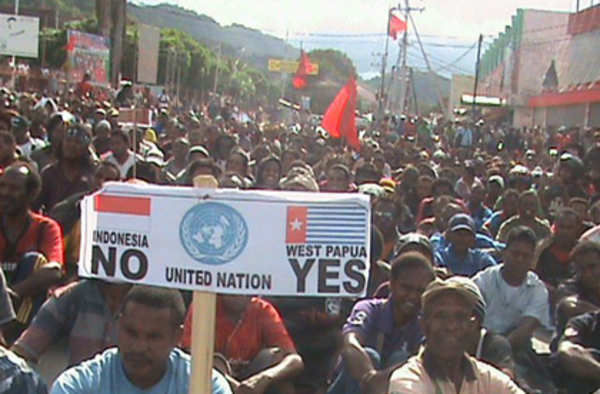 We are not Indonesian We are Papuan and we have a right to independence under United Nations law