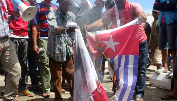 Indonesia is trying to plant a time bomb and stir up conflict in West Papua but we will stay peaceful