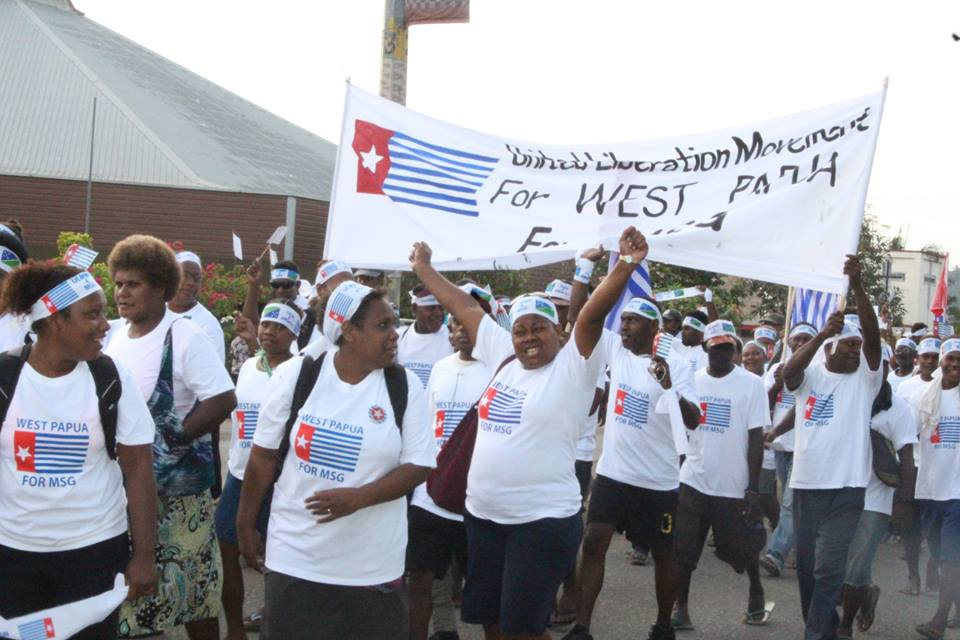 March in Honiara, Solomon Islands for West Papua's full MSG membership