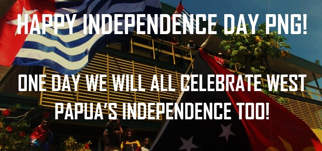 West Papua says Happy Independence Day Papua New Guinea 2016!