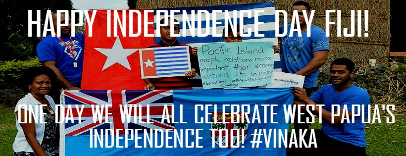 West Papua says Happy Independence Day Fiji!
