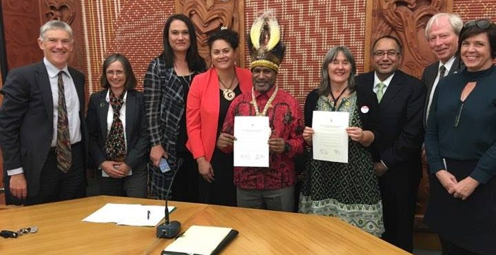 Benny Wenda launches Westminster Declaration for West Papua in Aotearoa New Zealand parliament