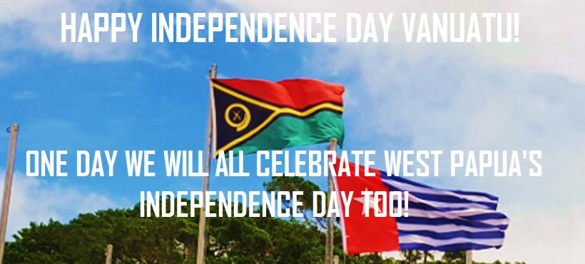 West Papua says Happy Independence Day Vanuatu!