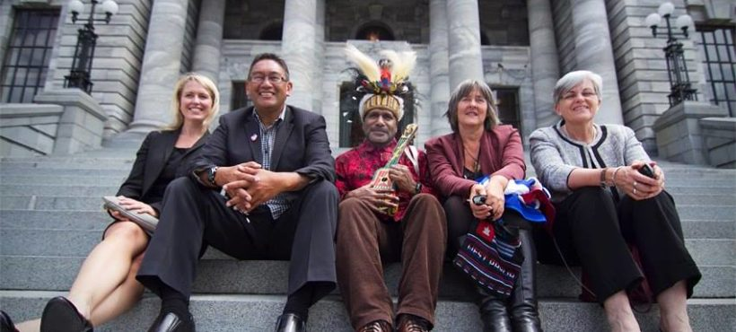 "Benny Wenda Thank You for West Papua Solidarity ""desk"" opening in Onehunga, New Zealand."